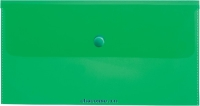 Папка конверт с кнопкой С6 180мкм зеленая AKk_06304